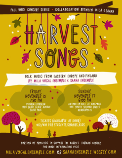 Harvest Songs Concert Poster